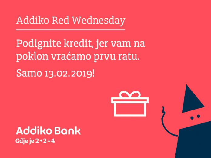 Addiko banka Red Wednesday