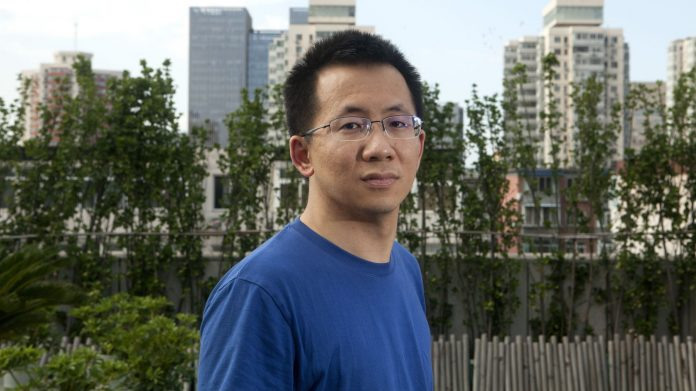 TikTiok. Zhang Yiming